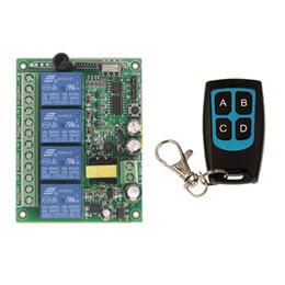 $enCountryForm.capitalKeyWord Australia - AC 220V 4CH 4 CH 10A Relay RF Wireless Remote Control Switch Wireless Light Switch Receiver With Black Waterproof Transmitter