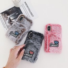 $enCountryForm.capitalKeyWord NZ - Winter Plush Warm Cell Phone Cases Fashion Designer Phone Case Cover for XS MAX XR 78X