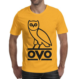 Sports T Shirts Design For Men NZ - Drake logo ovo black Man Tees Tops Designed Sports Cotton Crew Neck Shirts Man Funny T Shirt Fashion T Shirts for Man