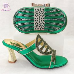 $enCountryForm.capitalKeyWord Australia - Hot Selling Fashion Shoes and Bag Set Italian Sets Green Color African Shoes with Matching Bags for Royal Wedding Party