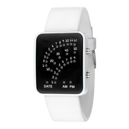$enCountryForm.capitalKeyWord Australia - HOT LED Electronic Wrist Watch Sector Binary Digital Waterproof Fashion Unisex Couple Watches 19ING