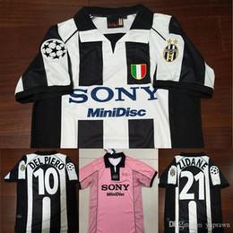 6a92bfba388 97 98 Juventus Zidane Retro Soccer Jersey Vintage Conte Inzaghi  10 Del  Piero 1998 Juve Calcio MAGLIA Deschamps Davids Football Shirts