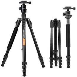 Dslr Slr Camera Australia - KF Concept TM2534B Protable Professional Camera Tripods 4 Section Ball Head For DSLR SLR