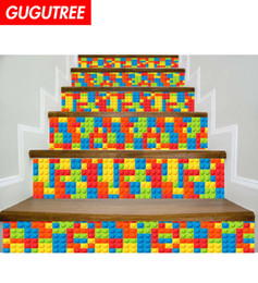 $enCountryForm.capitalKeyWord Australia - Decorate Home 3D building blocks cartoon art wall Stair sticker decoration Decals mural painting Removable Decor Wallpaper G-639
