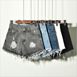 78d9ae75396e6e Jeans Shorts Women Denim Tassel Hot Pants High Waist Casual Pants Skinny  Retro Fashion Pants Slim Summer Sexy Ripped Cutoff Shorts B4555