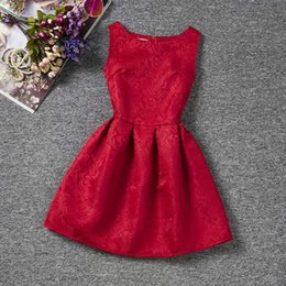 $enCountryForm.capitalKeyWord Australia - Summer Brand 2019 Princess Girl Dress Red Kids Clothes Dresses for Girl Children Clothing Teenager Party Costumes9 10 11 12 Year