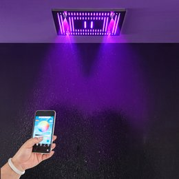 $enCountryForm.capitalKeyWord Australia - 304 SUS Colorful Light Shower Head Rainfall Waterfall LED Shower Heads Bathroom 24 Inch Ceiling Spray Massage Showerheads
