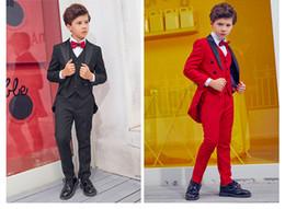 Handsome Kids Suits Australia - Handsome Double-Breasted Peak Lapel Kid Complete Designer Handsome Boy Wedding Suit Boys' Attire Custom-made (Jacket+Pants+Tie+Vest) A12