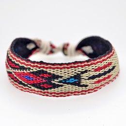 Sommer Schmuck Handmade Bohemian Chic Baumwolle Charme Freundschaftsarmband Femme Frauen Boho Armband im Angebot