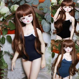 sd toy NZ - D01-P332 children handmade toy 1 6 1 3 1 4 Doll Accessories BJD SD doll clothes Student one-piece swimsuit 1pcs