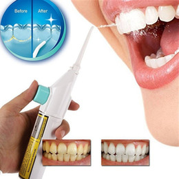 Wholesale New Portable Dental Irrigator Power Floss Oral Water Flossers Jets Remove Debris Reduce Bacteria Tooth Cleaner Dental Oral Care C18112601