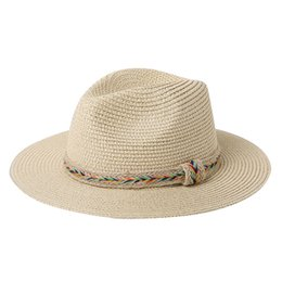 4b6a1b1f 2019 Fashion Toquilla Straw Wide Brim Women Panama Beach Sun Hat For  Elegant Lady Summer Floppy Chapeu Feminino Fedora Sunbonnet