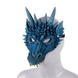 3d animal face mask NZ - 2019 New 3D Dragon Mask Carnival Party Animal Costume Dragon Cosplay Masquerade Face Mask PU Mardi Gras Mask A05