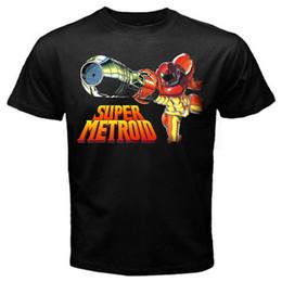 db2bf633 Super metroid arcade retro old game T-Shirt Black Basic Tee Funny free  shipping Tshirt top
