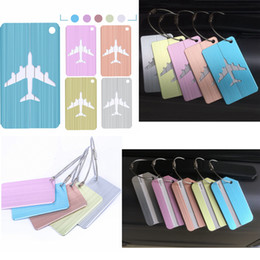 SupplieS bagS online shopping - 10style Suitcase Luggage label Tags airplane Pendant Handbag Travel Accessories Name ID Address fashion bag Accessories FFA2483