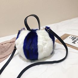 Fiber Fox NZ - CASMOR 2019 Fashion Women Brand Mini Small Fur Shoulder Bag Luxury Fox Plush Cute Girls Bucket Handbags Female Soft Clutch Bag