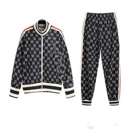 Опт Gucci suit 2019 Оптовая осень мода мужская спортивная толстовка костюм мода спортивный костюм мужская толстовка куртка Куртка мужская Медуза спортивная одежда спорт