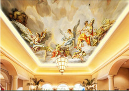 $enCountryForm.capitalKeyWord Australia - 3d ceiling murals wallpaper custom photo European angel playful figure home decor living room 3d wall murals wallpaper for walls 3 d