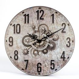 9b3f64604ac Europa Vintage Engrenagem Mottled Estilo Relógio de Parede Relógios Cozinha  Sala de estar Em Casa Decorativa Retro Grande Relógio de Parede Relógio de  ...