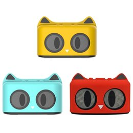 powerful speakers 2019 - Outdoor Bluetooth Audio Mini Bluetooth Cartoon Cat Wireless Speaker With Powerful Rich Room Filling Sound 3W Audio Drive