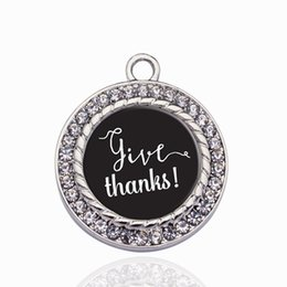 $enCountryForm.capitalKeyWord NZ - Give Thanks Circle Charm Charms For DIY Necklace Bracelet Choker Floating Pendant