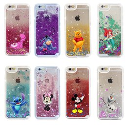 Wholesale Dual Gel Cute Dynamic Cartoon Bling Quicksand Liquid Flowing Glitter Star TPU PC Phone Case Cover Shell For iPhone Plus X XS XR XS Max