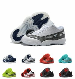 39c7eb2b5b4 2019 New Jumpman XI 11 Low IE Highlighter Basketball Shoes for Top quality  11s Black White Blue Red Mens Shoes Sports Sneakers Size 7-12