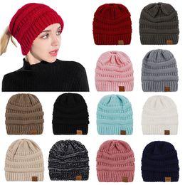 e9272ff13f89dc Ponytail Beanie Australia - Women Winter Warm Knitted Hat Slouchy Ponytail  Hat Beanie Ski Cap
