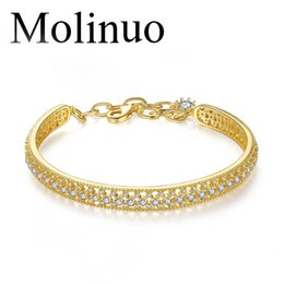 korean charm bracelets 2020 - Molinuo lock bracelet fashion wild personality popular Korean version of the hollow simple female bracelet gift for girl