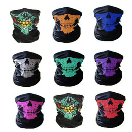 Ghosts Face Mask Australia - Halloween Cosplay Bicycle Ski Skull Mask Half Face Mask Ghost Scarf Neck Warmer skull Party