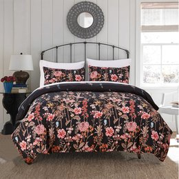 Discount beautiful king size bedding - Duvet cover set 3 pcs beautiful printing soft cozy comforter cover set bedding set queen king size available