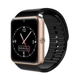Bluetooth Smart Watch Sim Australia - Compatible Bluetooth Smart Watch Men GT08 With Touch Screen Big Battery Support TF Sim Card Camera For IOS iPhone Android