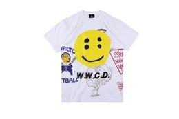 $enCountryForm.capitalKeyWord Australia - Dear2019 Hip-hop 1988 Kanye Hand Doodle Smiling Face Printing Short Sleeve Pity Men And Women Rock Tide T