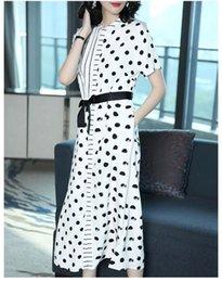 $enCountryForm.capitalKeyWord UK - Hot style dress loose large size hot selling women's summer 2019 new short sleeve wave point fairy dress wholesale