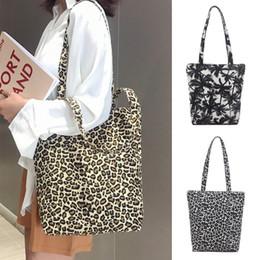 Bucket Handles Wholesale Australia - Unisex Canvas Messenger Printing Leopard Shopping Bag Messenger Bag Handle Portable Solid Zipper High quality casual