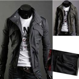 $enCountryForm.capitalKeyWord Australia - 2019 Spring New Men'S Fashion Slim Tide Stand Collar Hooded Drawstring Collection Korean Version Of Men'S Jacket
