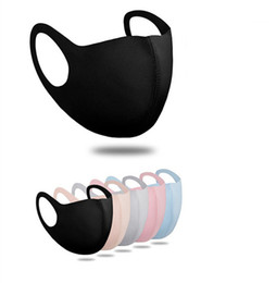 Anti Dust Face Mouth Cover Adult PM2.5 Designer Mask Respirator Dustproof Anti-bacterial Washable Reusable Ice Silk Masks 200pcs