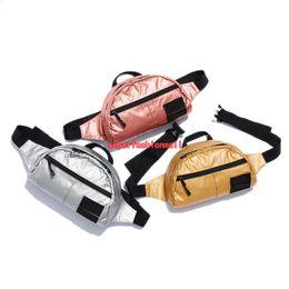 Gold mini baG online shopping - New Box Logo Life Skateboards Designer Bag Women Mini Cute Shoulder Bag Designer Bags Men Metallic Lumbar Pack Messenger Bags