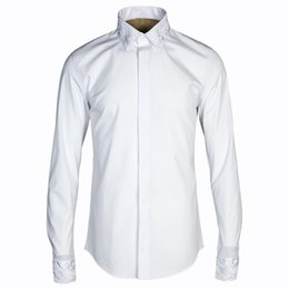 Original Chinese style white shirt men fashion trend brand men s clothing  shirt long sleeve cotton shirts male business chemise b23d7c6ea61e