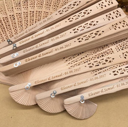 $enCountryForm.capitalKeyWord Australia - personalized sandalwood folding hand fans with organza bag wedding favours fan party giveaways Free shipping in bulk SN2024