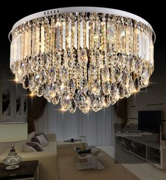 Lamp hoteL Lobby online shopping - Luxury modern crystal chandelier for dining room living room hotel lobby crystal ceiling lamp LLFA