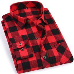 87af8944e3 Black Red Plaid Men s Flannel Shirt Slim Fit Soft Comfortable Spring Male  Shirt Brand Men s Casual Long-sleeved Shirts 4xl