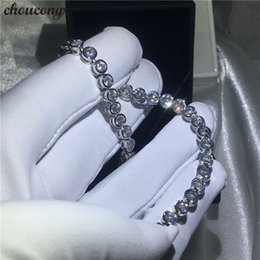 $enCountryForm.capitalKeyWord Australia - choucong Handmade Female White Gold Filled bracelets 5A Zircon cz Silver Colors bracelet for women Fashion Jewerly