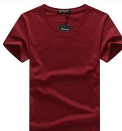Wholesale Men s new brand men s light board t shirt blank solid color short sleeves