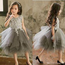 $enCountryForm.capitalKeyWord Australia - Crystals Beaded Girls Pageant Dresses 2019 Off Shoulders Zipper Back A Line Toddler Flower Girls Dresses