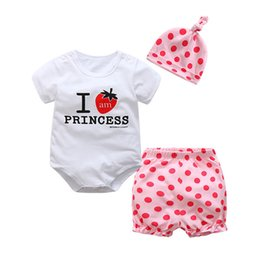 Baby Girl Summer Suits Australia - good quality Summer Newborn Baby Girls Clothes Sets Infnat 2Pcs Suit Kids Romper + Shorts Cotton Casual Toddler Girls Clothes Sets