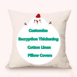 Venta al por mayor de Personalizar gratis Throw Pillow Covers Comprado a granel Nuevo cifrado Engrosamiento de algodón Lino Funda de almohada Sofá de coche Fundas de cojines 18