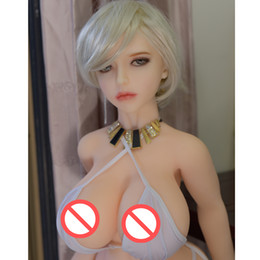 anime love dolls real size Canada - real silicone sex dolls metal skeleton Europe adult mini lifelike anime oral love dolls full vagina pussy big breast for man