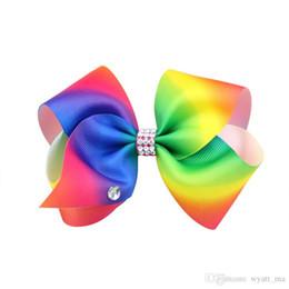 $enCountryForm.capitalKeyWord UK - JOJO SIWA 12cm LARGE Rainbow Signature HAIR BOW with clip baby girl Children Hair Accessories fashion hair clip