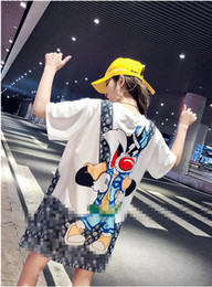 Tops Girl Shirt Design Australia - Girl Student Pretty Design Patchwork Tees Cartoon Printed Quick Dry T-Shirt Casual Plus Size Loose Breathable Short Sleeve Tops